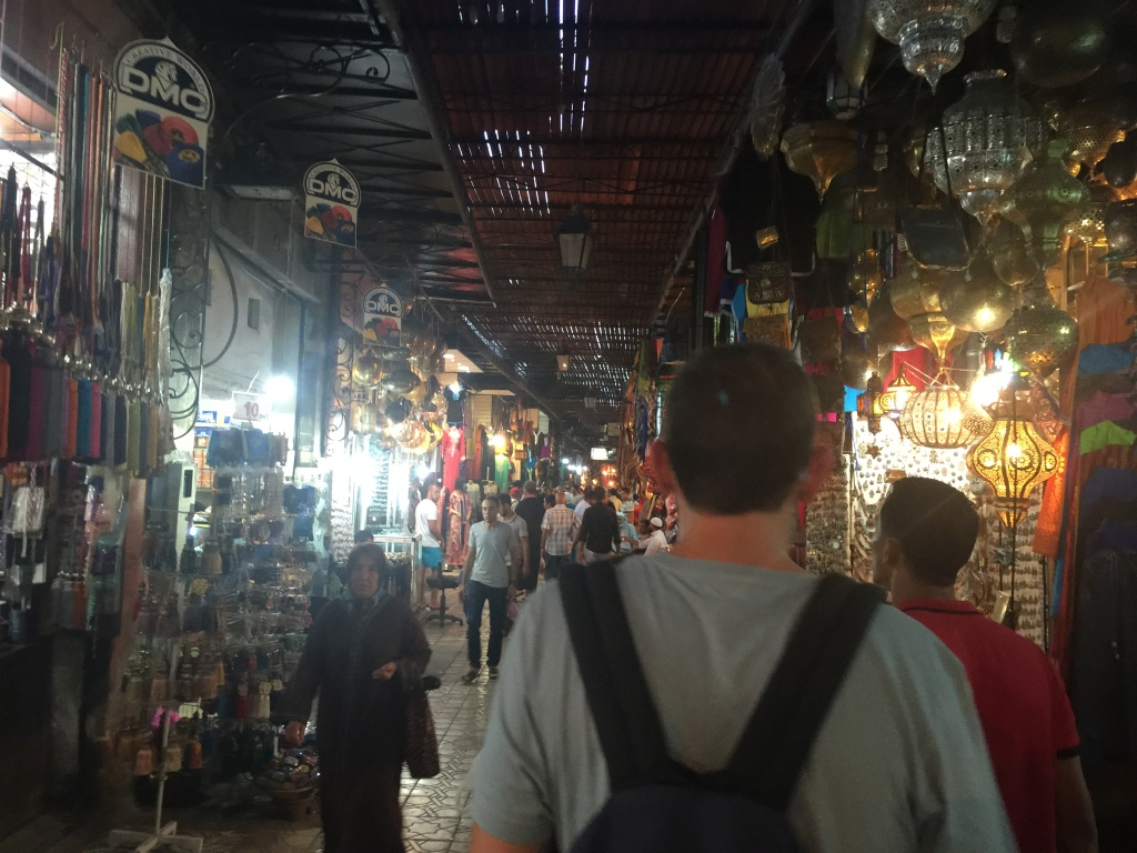 I didn't want to be 'that' tourist, so I just snapped one quick pic. This is inside the medina with shops on each side. This street wasn't busy. There's usually no free standing room!