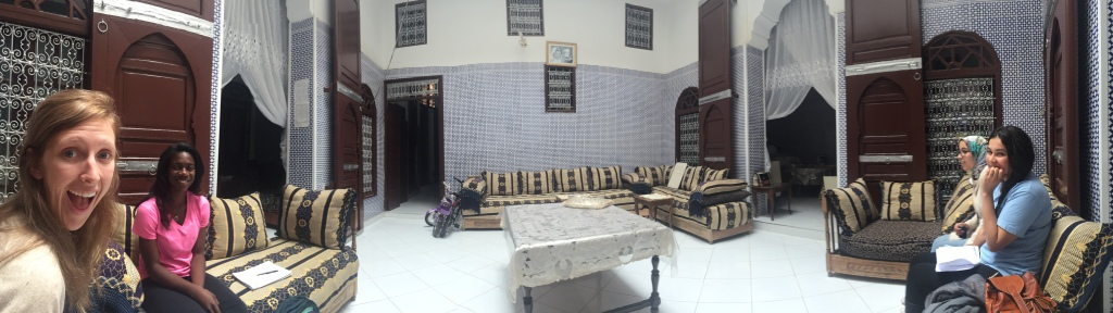 Panorama of the salon.